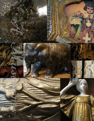 Gold collage